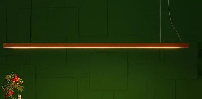 Suspension led40 2700k 1800lm noyer l160cm tunto normal