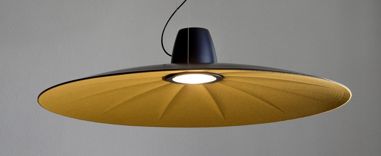 Suspension lent jaune led o110cm h9cm martinelli luce normal