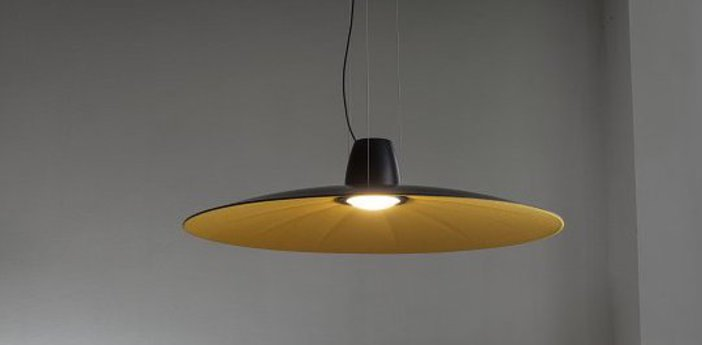 Suspension lent jaune led o110cm h9cm martinelli luce normal
