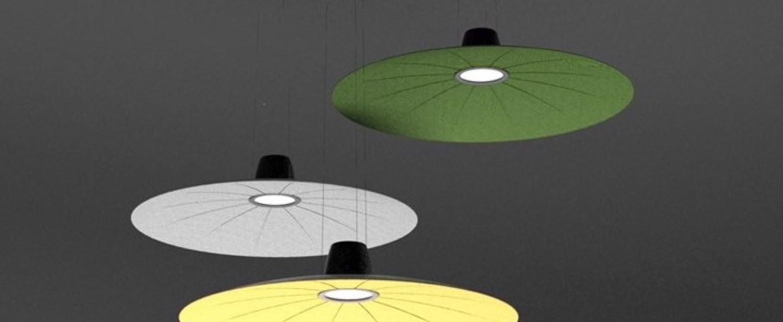 Suspension lent vert fonce led o110cm h9cm martinelli luce normal