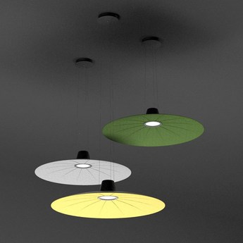 Suspension lent vert fonce led o110cm h9cm martinelli luce normal