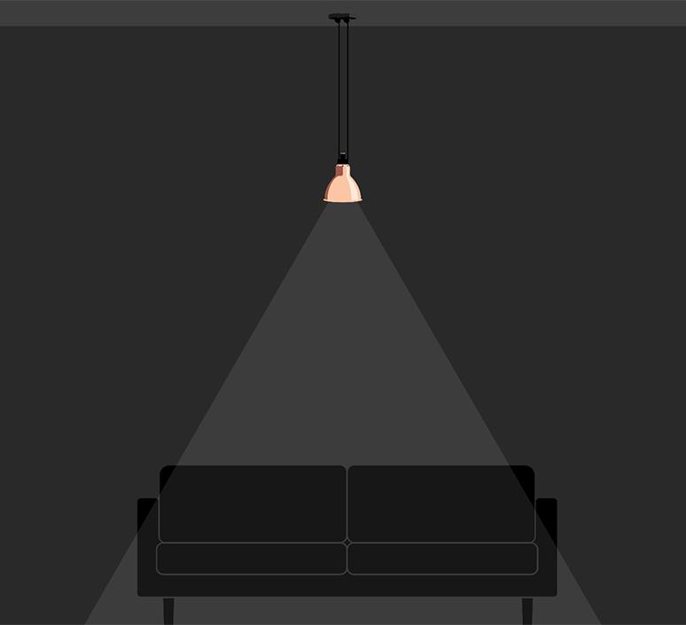 Les acrobates de gras n 322 bernard albin gras suspension pendant light  dcw 322 sha l round copper  design signed nedgis 102828 product