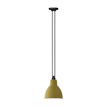 Suspension les acrobates de gras n 322 jaune interieur blanc o22cm h22cm dcw editions paris normal