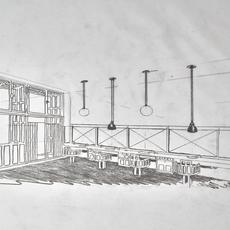 Les acrobates de gras n 322 bernard albin gras suspension pendant light  dcw n 322 sha l conic black copper  design signed nedgis 103214 thumb
