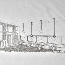 Les acrobates de gras n 322 bernard albin gras suspension pendant light  dcw 322 sha l round black  design signed nedgis 102805 thumb