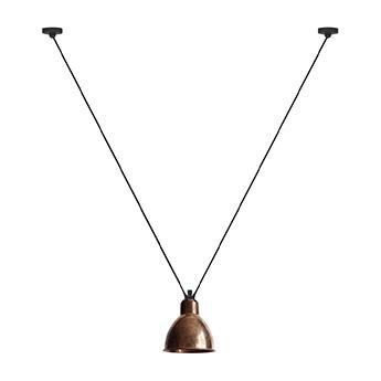 Suspension les acrobates de gras n 323 cuivre brut interieur blanc o17cm h17cm dcw editions paris normal