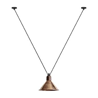 Suspension les acrobates de gras n 323 cuivre brut interieur cuivre brut o26cm h21 6cm dcw editions paris normal
