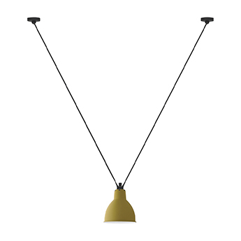 Suspension les acrobates de gras n 323 jaune interieur blanc o17cm h17cm dcw editions paris normal