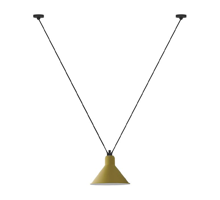 Les acrobates de gras n 323 bernard albin gras suspension pendant light  dcw 323 sha l conic yellow  design signed nedgis 103133 product