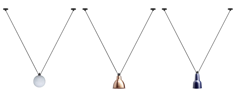 Suspension les acrobates de gras n 323 noir et cuivre o17 5cm h18cm dcw editions normal