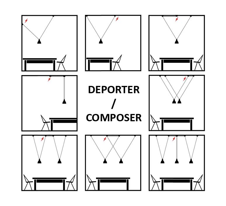 Les acrobates de gras n 326 bernard albin gras suspension pendant light  dcw n 323 sha l round copper  design signed nedgis 103656 product