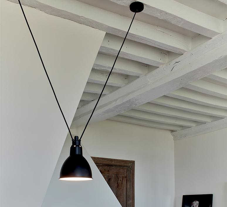 Les acrobates de gras n 323 bernard albin gras suspension pendant light  dcw 323 sha l round black  design signed nedgis 103162 product