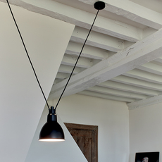 Les acrobates de gras n 323 bernard albin gras suspension pendant light  dcw 323 sha l round black  design signed nedgis 103162 thumb
