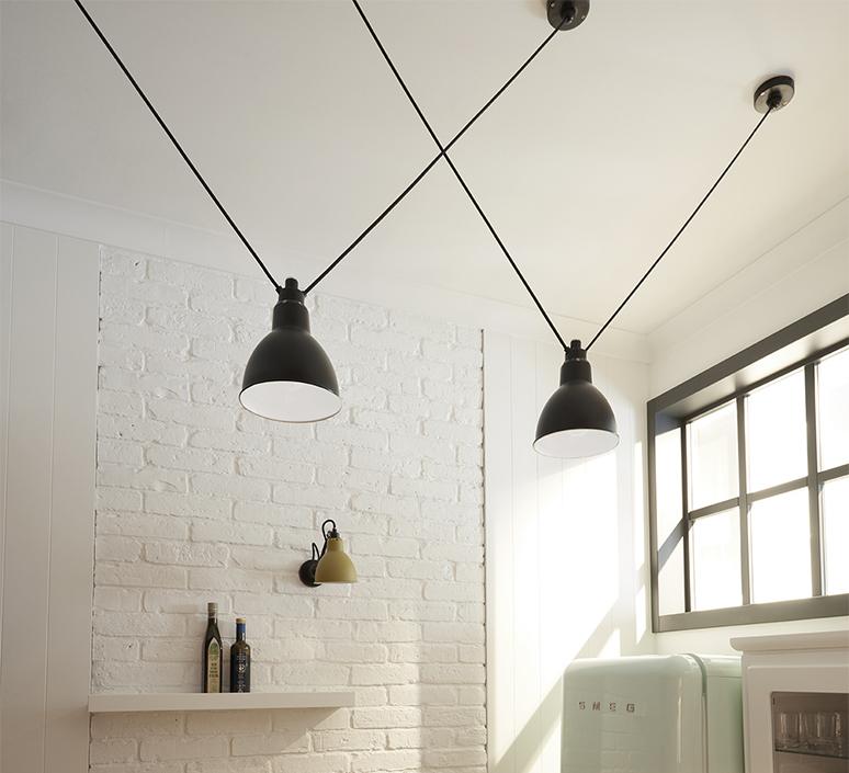 Les acrobates de gras n 323 bernard albin gras suspension pendant light  dcw 323 sha l round black  design signed nedgis 103163 product