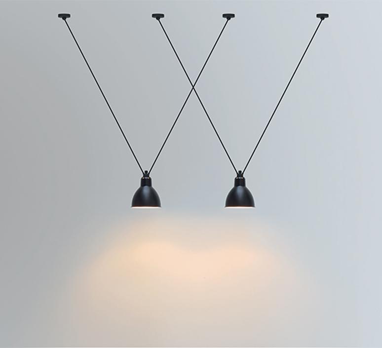 Les acrobates de gras n 323 bernard albin gras suspension pendant light  dcw 323 sha l round black  design signed nedgis 103165 product
