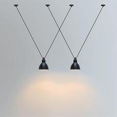 Les acrobates de gras n 323 bernard albin gras suspension pendant light  dcw 323 sha l round black  design signed nedgis 103165 thumb
