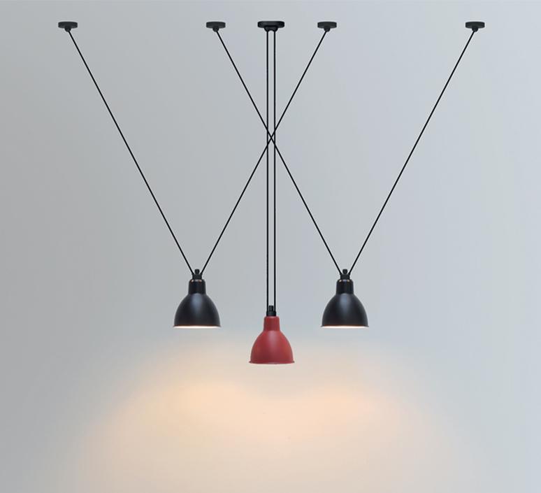 Les acrobates de gras n 323 bernard albin gras suspension pendant light  dcw 323 sha l round black  design signed nedgis 103166 product