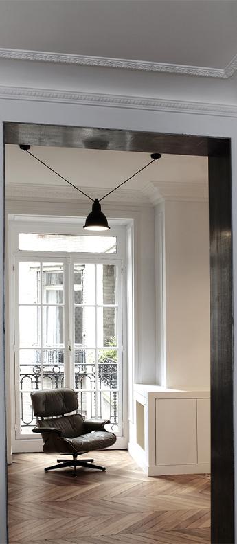 Suspension les acrobates de gras n 323 noir interieur blanc o22cm h22cm dcw editions paris normal