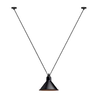 Suspension les acrobates de gras n 323 noir interieur cuivre o26cm h21 6cm dcw editions paris normal