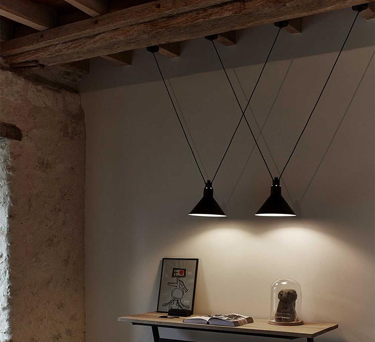 Les acrobates de gras n 323 bernard albin gras suspension pendant light  dcw n 323 sha l conic red  design signed nedgis 103614 product