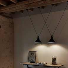Les acrobates de gras n 323 bernard albin gras suspension pendant light  dcw n 323 sha l conic red  design signed nedgis 103614 thumb