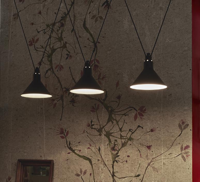 Les acrobates de gras n 323 bernard albin gras suspension pendant light  dcw n 323 sha l conic red  design signed nedgis 103615 product
