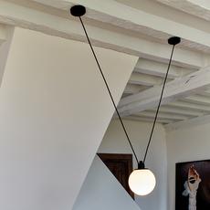 Les acrobates de gras n 323 bernard albin gras suspension pendant light  dcw 323 glass ball 175  design signed nedgis 103046 thumb