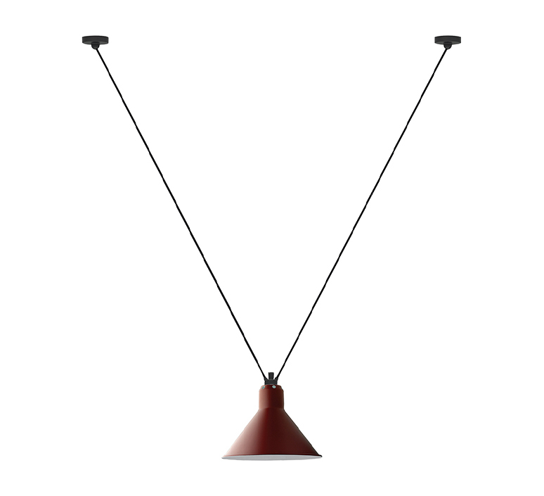 Les acrobates de gras n 323 bernard albin gras suspension pendant light  dcw n 323 sha l conic red  design signed nedgis 103632 product