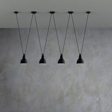 Les acrobates de gras n 324 bernard albin gras suspension pendant light  dcw  2 324  4 sha l round black part ac3  design signed nedgis 103533 thumb