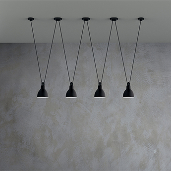 Suspension les acrobates de gras n 324 noir interieur blanc o17cm h17cm dcw editions paris 727c2fb5 4499 407d 8eb5 15d6bb07eba5 normal