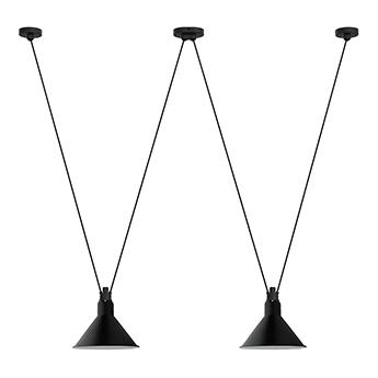 Suspension les acrobates de gras n 324 noir interieur blanc o26cm h21 6cm dcw editions paris normal