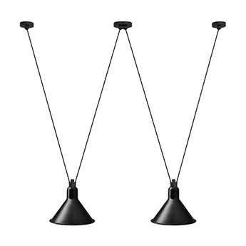 Suspension les acrobates de gras n 324 noir l32cm h25cm dcw editions normal