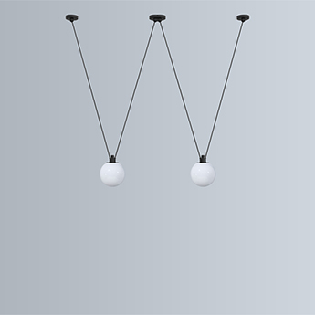 Suspension les acrobates de gras n 324 noir o17 5cm h3m dcw editions normal