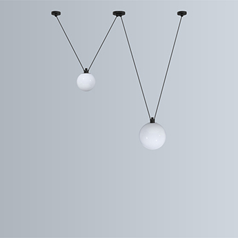 Suspension les acrobates de gras n 324 opalin o17 5 25cm h17 5 25cm dcw editions paris normal