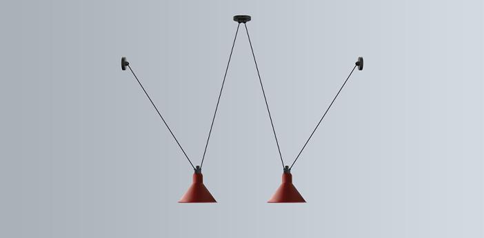 Suspension les acrobates de gras n 324 rouge o26cm h21 6cm dcw editions normal