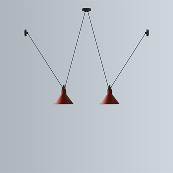 Suspension les acrobates de gras n 324 rouge o26cm h21 6cm dcw editions normal