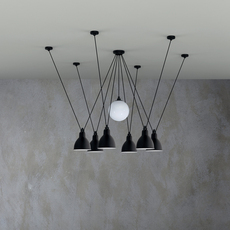 Les acrobates de gras n 327 bernard albin gras suspension pendant light  dcw 327  1 glass ball 250  6 sha l round black  design signed nedgis 103584 thumb
