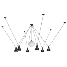 Les acrobates de gras n 327 bernard albin gras suspension pendant light  dcw 327  1 glass ball 250  6 sha l round black  design signed nedgis 103586 thumb