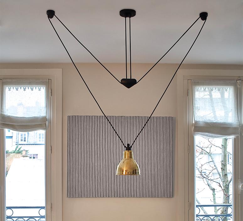 Les acrobates de gras n 328 bernard albin gras suspension pendant light  dcw 328 sha l round brass  design signed nedgis 103594 product