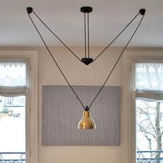 Les acrobates de gras n 328 bernard albin gras suspension pendant light  dcw 328 sha l round brass  design signed nedgis 103594 thumb