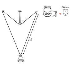 Les acrobates de gras n 328 bernard albin gras suspension pendant light  dcw 328 sha l round brass  design signed nedgis 103595 thumb