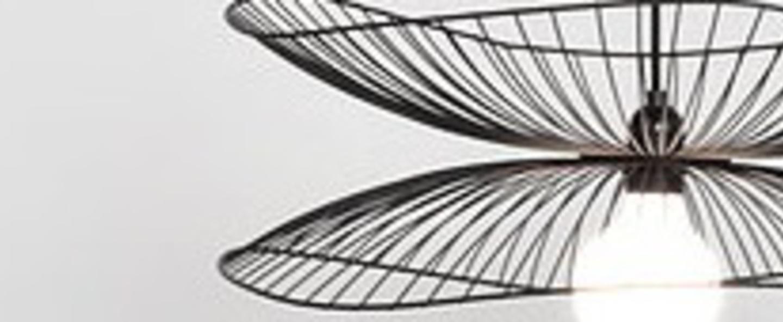 Suspension libellule l noir o100cm h40cm forestier normal