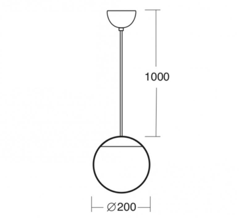 Light o 097 studio zangra suspension pendant light  zangra light o 097 go 001  design signed nedgis 121542 product