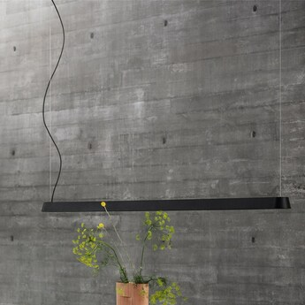 Suspension linear noir led 3000k 1880lm l169 2cm h5 4cm muuto normal