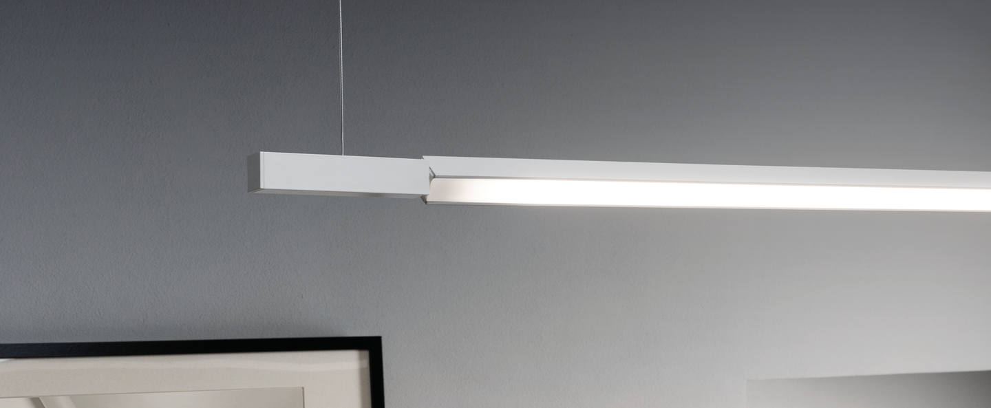 Suspension linescapes horizontal blanc led l195cm h2cm nemo lighting normal