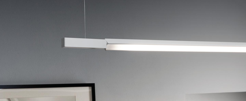 Suspension linescapes horizontal blanc led l195cm h2cm nemo lighting normal