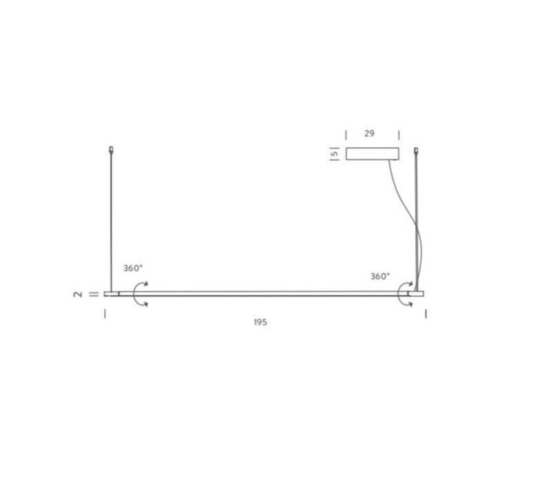 Linescapes vincenzo de cotiis suspension pendant light  nemo lighting lin lww 58  design signed 58911 product