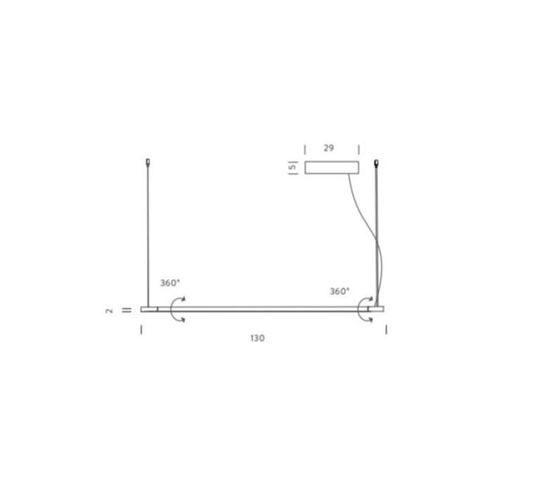 Linescapes vincenzo de cotiis suspension pendant light  nemo lighting lin lnn 57  design signed 58906 product