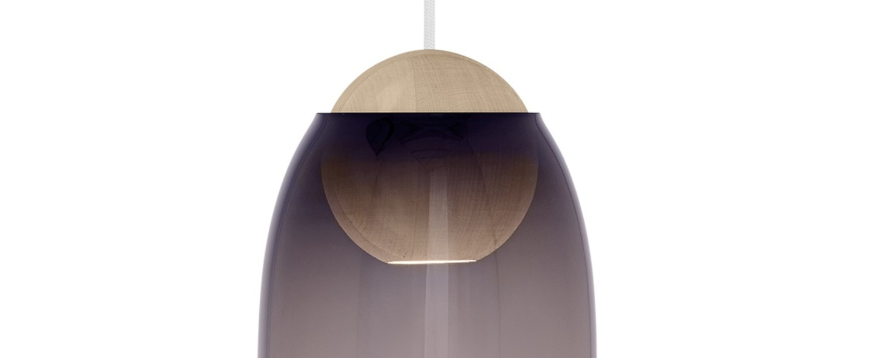 Suspension liuku avec abat jour verre colore bois o19 5cm h34 5cm mater normal