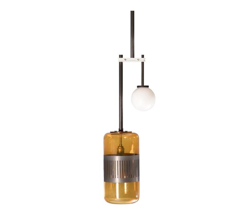 Lizak drop robbie llewellyn et adam yeats suspension pendant light  bert frank lizak pl drop amber  design signed nedgis 75363 product